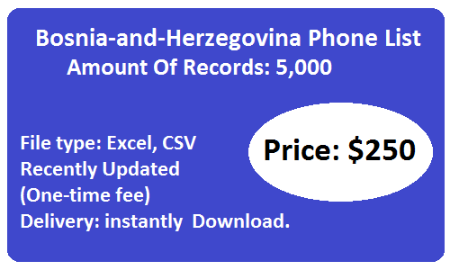 Bosnia-and-Herzegovina Phone List