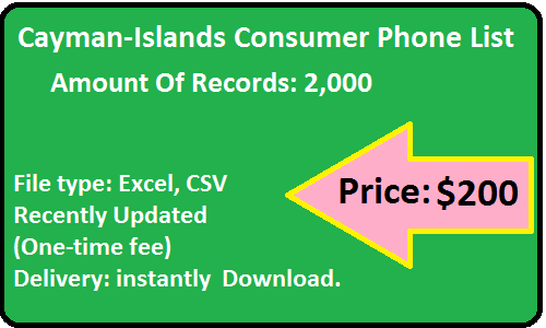 Cayman-Islands B2C Phone List
