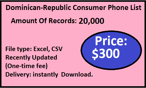 Dominican-Republic B2C Phone List