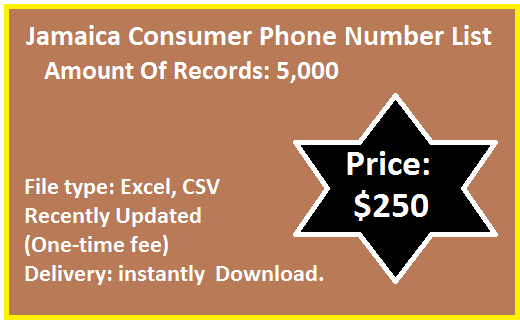 Jamaica B2C Phone List