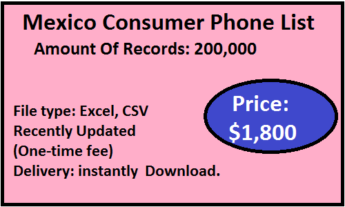 Mexico B2C Phone List
