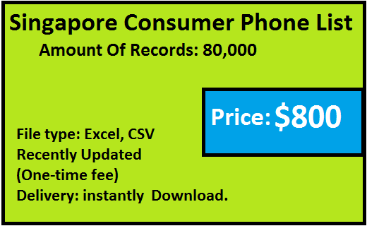 Singapore B2C Phone Number List