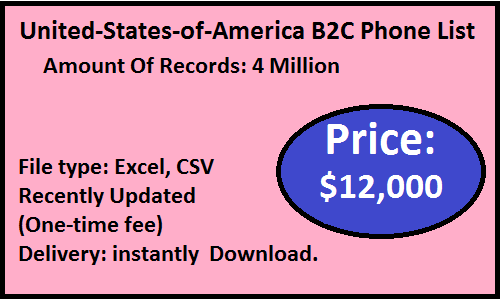 United-States-of-America B2C Phone List