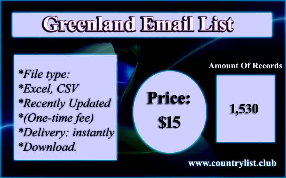 Greenland Email List